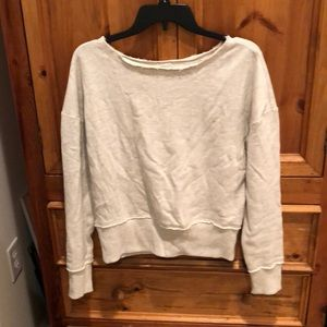 NWT Anthropologie torn fitted yoga sweatshirt